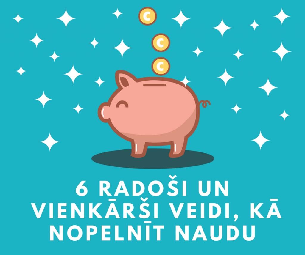 Kā es varu nopelnīt naudu mājās latvija. Praktiski padomi, kā nopelnīt naudu | Crediton