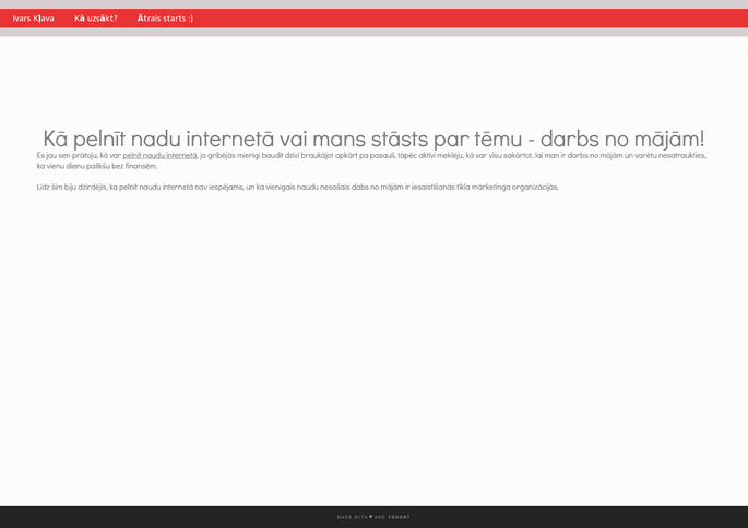 webzona.lv | Portāls par digitālo mārketingu un peļņas iespējām internetā